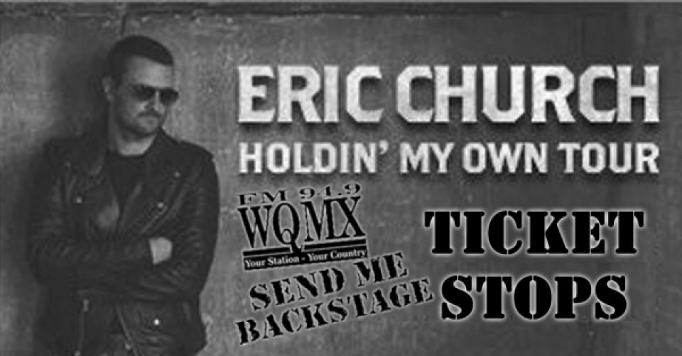 Eric Church Send Me Backstage Ticket Stops