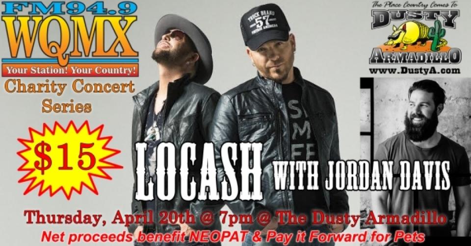 WQMX Charity Concert with LoCash & Jordan Davis