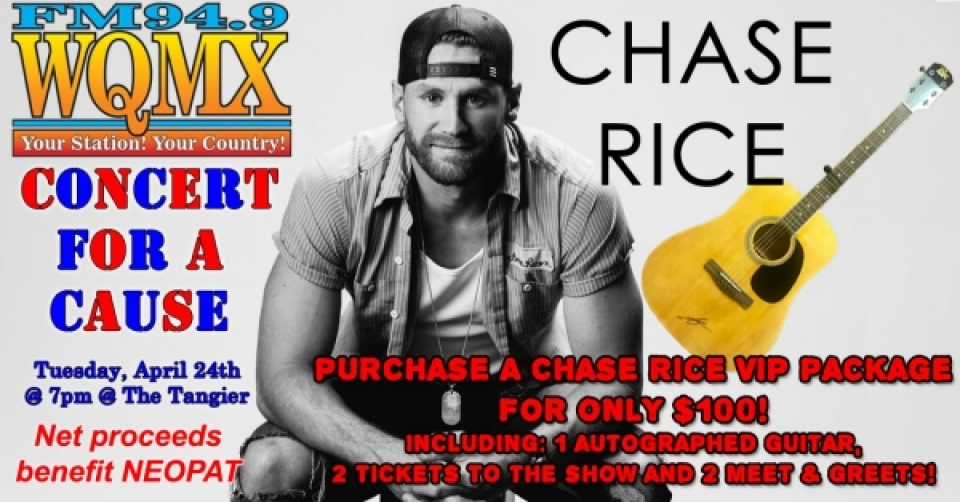 WQMX Chase Rice Concert for a Cause *SOLD OUT*