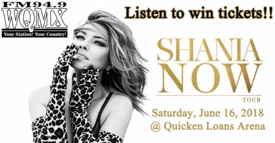 Win Shania Twain tickets
