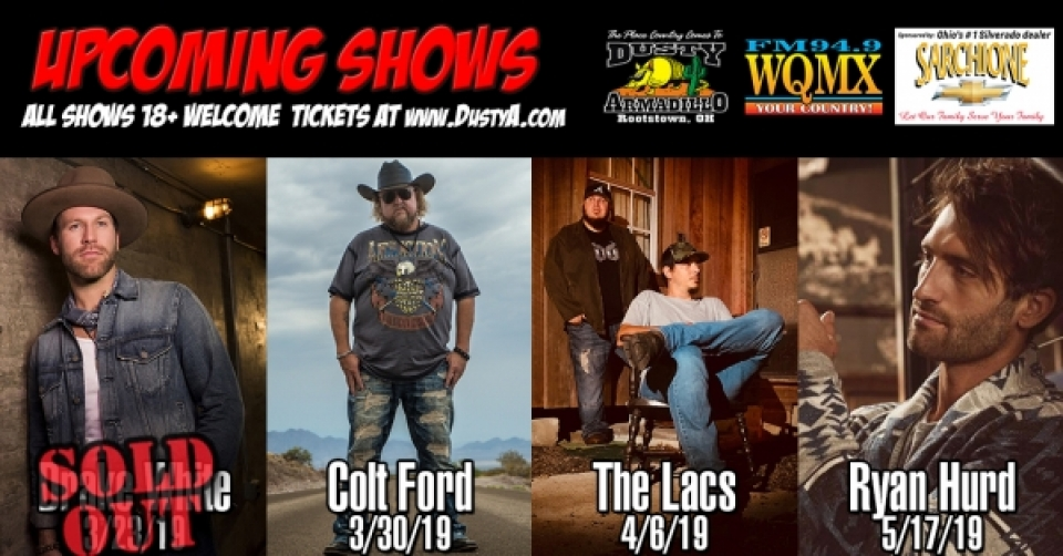 Dusty Armadillo Concert Series 2017-2018