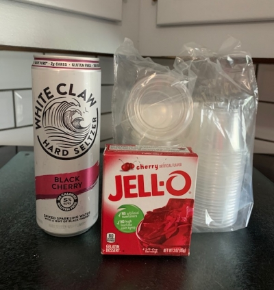 Black Cherry White Claw Jello Shots