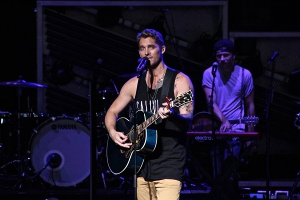 Brett Young Performs at Blossom Music Center, 2018